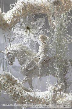 paper sculptures by Motohiko Odan