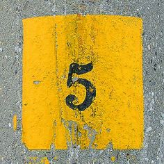 Yellow Five (Favorite Number and Color!)