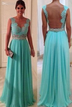 Wholesale V Neck Prom Dresses $94.9 | DHgate  http://www.dhgate.com/product/2014-hot-sell-fashion-sexy-turquoise-v-neck/175528361.html