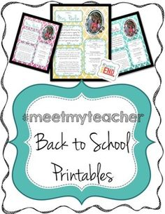 If you download, I'd love to get feedback from you! I am trying to get 200 comments on this FREEBIE as something fun to have! Help me out!  If you are looking for a way to introduce yourself to parents, this is it! #meetmyteacher has three custom colors to choose from! These printables are editable.  You will customize to make the handout all about you!  Instructions are contained in the file as well as a short Youtube video for those that may not have much experience with inserting/shaping/sizing photos in PowerPoint.    #meetmyteacher is perfect for the first day of school, meet the teacher night, supply drop of night, or back to school bash! Celebrate going back to school in style!  Three colors are included just as in the thumbnail preview: teal, yellow, and pink. Each printable is editable: Add your Name Add a welcome Add Info about you Add Your favorites add your own picture or graphic  Several versions of this document in each color palette are included.  Options and ideas on using less ink for printing are also included.     *Please note: An editable file refers to certain text in the file {also picture in this case} that is customizable by you upon purchase.  You will not have access to the layering of graphics for the picture layout.  You will resize and reshape your own picture to fit in the layout provided. (please read above description carefully to see what is editable).    Due to TOU on graphics and digital background papers, the actual colors and graphics embedded in the file cannot be changed.    Please ask any questions you have about the file, prior to purchasing.  Due to the nature of digital files, no refunds are available.    Enjoy!! Whitney☺  Back to school, meet the teacher, back to school bash, back to school printables, meet the teacher printables, parent printables, parent handouts, handouts for parents, all about me, all about the teacher, teacher favorites, Kindergarten, first grade, second grade, third grade, fourth grade, fifth grade, 
