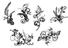 Digital Clip Art elements Personal Small Commercial Use - flourishes Damask vintage lace Designs Border clipart 1015
