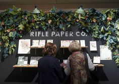 Rifle Paper Co. booth display at National Stationary Show (via designsponge)