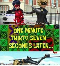 """""""I'll take care of it ladybug"""" chat Noir tied up<<He's not completely useless. He just does better working together with his bugaboo<<<awwww even ladybug says """"Chat Noir and i. Ladybug Y Cat Noir, Meraculous Ladybug, Ladybug Comics, Lady Bug, Bugaboo, Marinette Ladybug, Adrien Y Marinette, All Meme, Funny Memes"""