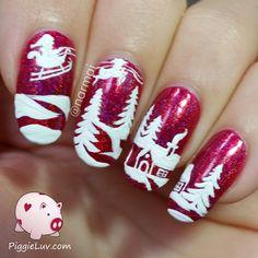 PiggieLuv: Christmas cottage nail art