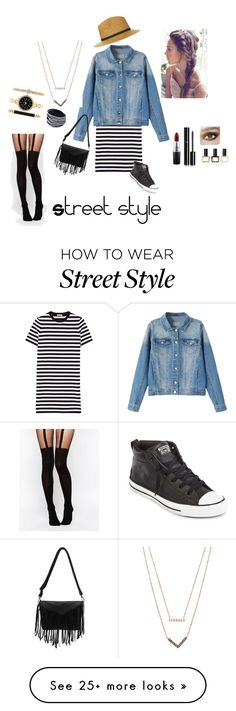 """Street Style"" by kristenlba on Polyvore featuring Topshop, Michael Kors, Converse, MAC Cosmetics, Chanel, Balmain, Style & Co. and ASOS"