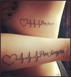 30 Valentine& Day Couple Matching Tattoo Designs 30 Valentine's Day Couple Matching Tattoo DesignsGirls! The Valentine's Day is coming! We need to plan something special on this big day wit Couple Tattoo Heart, Couple Tattoos Love, Small Arrow Tattoos, Small Tattoos, Heartbeat Tattoo With Name, Heartbeat Tattoos, Trendy Tattoos, Tattoos For Guys, Fingers Tatoo