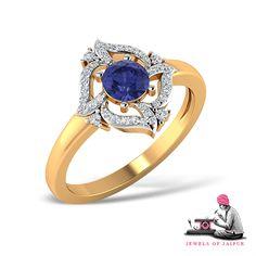 Tonight is diamond night!  #Handcrafted #Jewelry #Ring #Diamond #Sapphire #Jewels #Gems #Gold #Jaipur #GiftForHer #Women #PinkCity