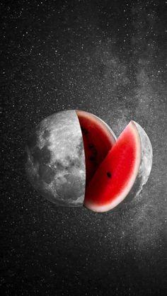 Moon Melon iPhone Wallpaper - iPhone Wallpapers
