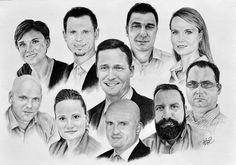 Skupinová kresba - portrét kolegů