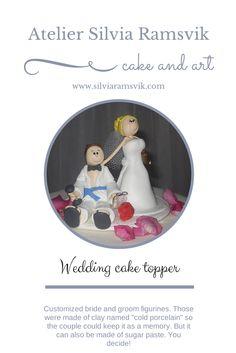 Wedding cake topper Brudepar kaketopper  Bryllup kakepynt Bryllupskake Noivinhos para bolo Wedding Cake Toppers, Wedding Cakes, Sugar Paste, Novelty Cakes, Bride, Wedding Cake Embellishments, Wedding Gown Cakes, Wedding Bride, Sugar Pie