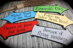 WIZARD of OZ Whimsical Party signs by kutekardz on Etsy, $19.50