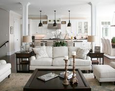 Living room and kitchen open concept kitchen living room design ideas living room kitchen combo layout . Home Living Room, Room Design, Interior, Home, Room Remodeling, House Interior, Traditional Design Living Room, Living Decor, Home And Living