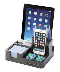 eaa8b26707 Loving this Black USB Desk Organizer Docking Station on #zulily!  #zulilyfinds Usb,