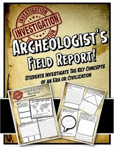 Archaeologist's Field Report for Ancient World History or Medieval History World History Projects, World History Facts, World History Classroom, Ancient World History, World History Lessons, Study History, History Medieval, Nasa History, History Memes