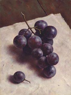 "Marius van Dokkum (Dutch, born 1957) ""Bunch of blue grapes"""