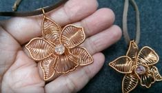 Gorgeous Wire Wrapped Orchid Pendant Tutorial