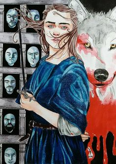 Arya Stark - Game of Thrones by gabi-raposa