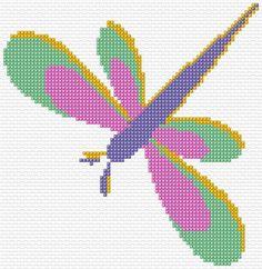 free cross stitch chart dragonfly