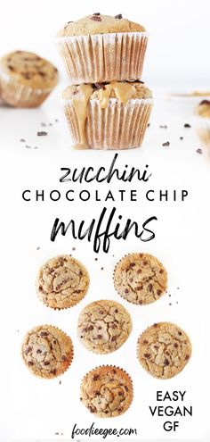 Best healthy gluten free #moist vegan Chocolate Chip Zucchini Muffins recipe that is easy oil free flourless & eggless. With oatmeal oat flour, banana, peanut butter for healthy breakfast on the go or easy homemade snack dessert idea #vegan #zucchinibread #zucchinimuffins #chocolatechip #dairyfree #eggfree #oilfree #glutenfree #lowsugar #zucchini #veganmuffins #sugarfree #muffins #healthybreakfast #veganchocolate #flourless #dessert #zucchinirecipes #veganmuffins #healthymuffins #healthysnacks Vegan Zucchini Muffins, Zucchini Chocolate Chip Muffins, Zucchini Muffin Recipes, Dairy Free Chocolate Chips, Chocolate Chip Oatmeal, Healthy Chocolate, Healthy Breakfast Snacks, Healthy Vegan Desserts, Vegan Dessert Recipes