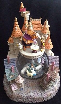 Disney Beauty and The Beast Village Musical Snowglobe RARE | eBay