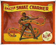 Vintage side show banner