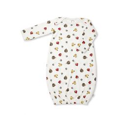 Long Sleeve Gown fold over cuffs- Happy Birds Baby #Save 50% only $6