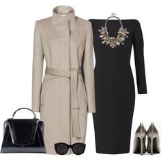 outfit 394 by natalyag on Polyvore featuring Burberry, Reiss, Yves Saint Laurent, Jitrois and Le Specs