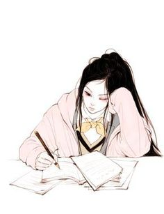 Fashion Illustration Speed Painting with Ink - Drawing On Demand Pelo Anime, Chica Anime Manga, Anime Art Girl, Manga Girl, Aesthetic Anime, Aesthetic Art, Avatar Manga, Art Sketches, Art Drawings