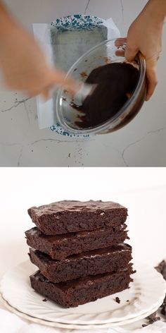Small Batch Double Chocolate Brownies makes just enough for a romantic dessert for two. Rich, fudgy brownies for the win! # Desserts for two Small Batch Brownies Recipe Small Desserts, Great Desserts, Mini Desserts, Delicious Desserts, Dessert Recipes, Yummy Food, Strawberry Desserts, Double Chocolate Brownies, Fudgy Brownies