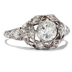 DIAMONDS ARE FOREVER! ERSTKLASSIKER ART DÉCO RING AUS PLATIN & 1,07 CT DIAMANTEN, UM 1930