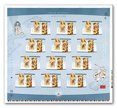 Canada Stamps 2004 - Year of the Monkey
