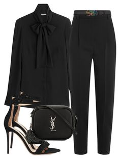 Sem título #2365 by mariandradde on Polyvore featuring Alexander McQueen, Gianvito Rossi, Yves Saint Laurent and Gucci