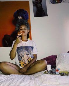 Badass Aesthetic, Black Girl Aesthetic, Black Girl Magic, Black Girls, Mode Old School, Rauch Fotografie, Fille Gangsta, Stoner Girl, Girl Swag