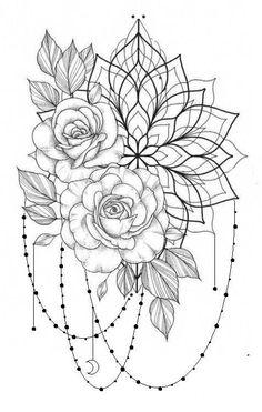 tattoo ankle mandala * tattoo ankle + tattoo ankle bracelet + tattoo ankle small + tattoo ankle flower + tattoo ankle men + tattoo ankle cover up + tattoo ankle words + tattoo ankle mandala Mini Tattoos, Rose Tattoos, Body Art Tattoos, Small Tattoos, Sleeve Tattoos, Floral Thigh Tattoos, Henna Thigh Tattoo, Upper Thigh Tattoos, Hand Tattoo