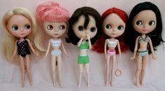 Blythe body comparison. Kenner, Takara, Obitsu 21cm, Licca, Pure Neemo