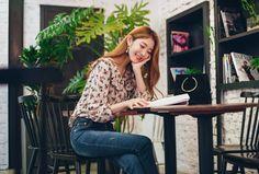 Ruffle Collar Posy Print Blouse CHLO.D.MANON   #floral #blouse #koreanfashion #seoul #falltrend #girly #sweet #lovely #ruffle #kstyle