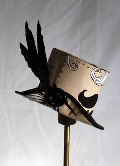 Moustache Mini Top Hat by LauraAfterMidnight on Etsy, £25.00