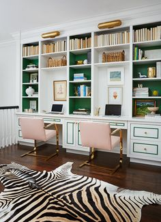 Kelly green shelves || Clayton Lane - Amie Corley Interiors