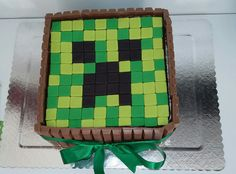 Minecraft quadrado com kit kat