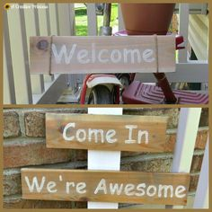 A Creative Princess: Welcome Signs
