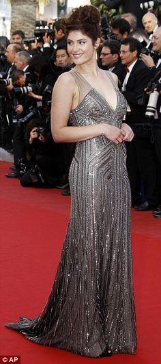 Screen siren: Gemma Arterton looked striking in a silver sheath