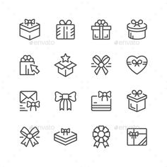 Set Line Icons of Gift Isolated on White Available RGB color Good choice for use in infographic and interface Attached ZIP Business Brochure, Business Card Logo, Free Vector Images, Vector Free, Icon Design, Logo Design, Graphic Design, Gift Logo, Gift Vector