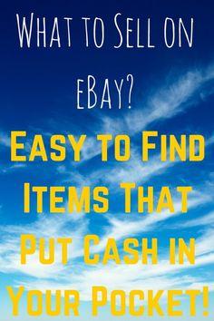 http://www.mymochamoney.com/244/what-to-sell-on-ebay/What To Sell On Ebay? Easy To Find Items That Will Put Cash In Your Pocket! #ebay #ebayselling #whattosellonebay