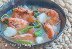Sinigang na Hipon sa Sampaloc or Filipino Shrimp Soup in tamarind broth is a quick and easy soup dish that you can prepare for lunch or dinner.