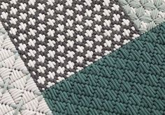 Handmade rectangular fabric rug Silaï Collection by GAN By Gandia Blasco Diy Carpet, Rugs On Carpet, Tapetes Diy, Tapis Design, Fabric Rug, Plastic Canvas Crafts, Bargello, Cross Stitch Embroidery, Wool Rug