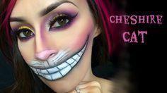 Cheshire Cat l Halloween tutorial the best one for Disney Cheshire Cat Face Paint, Cheshire Cat Costume Kids, Cheshire Cat Makeup, Chesire Cat, Cat Halloween Makeup, Halloween Make Up, Halloween Inspo, Halloween Goodies, Halloween 2014