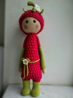 Raspberry girl, Lupo the Lamb pattern modification from @lalylala