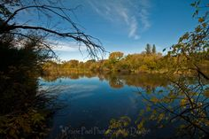 Beautiful autumn reflections on a small lake in Saskatchewan.