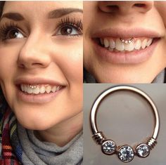 smiley lip piercing - Google Search