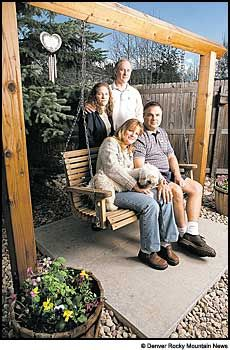 Danny Rohrbough's family. His mother asked for and was given the section of slab her son died on at Columbine. It is in a garden with a swing in her backyard .